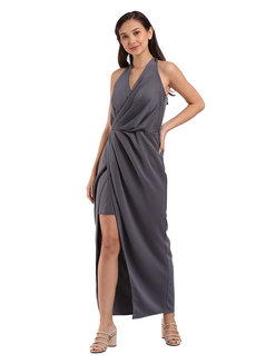 Darla Pleated Self-tie Dress by Lili Co.