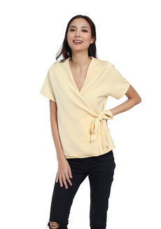 Augusta Wrap Top by Flair & Stare