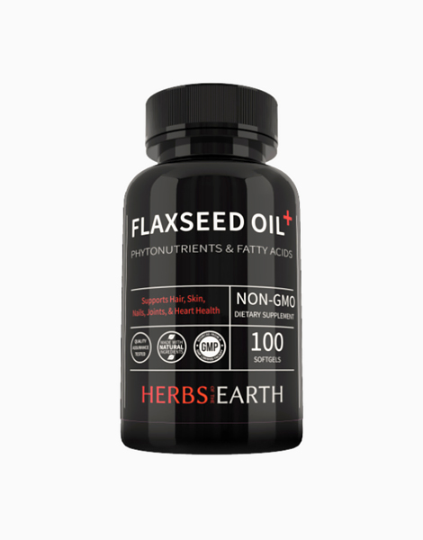 Flaxseed Oil 1000mg (100 Softgels) by Herbs of the Earth