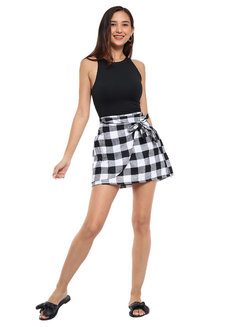 Checkered Mini Skirt by Pink Lemon Wear