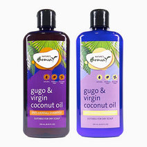 Gugo   virgin coconut oil anti hairfall shampoo   conditioner bundle