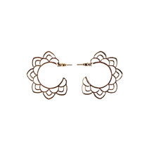 Celadon Flower Stud Earrings by Moxie PH