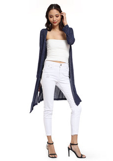 Textured Knitted Cardigan by Glamour Studio