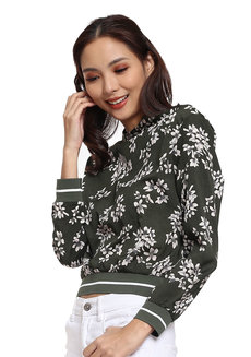 Printed Woven Pullover by Glamour Studio