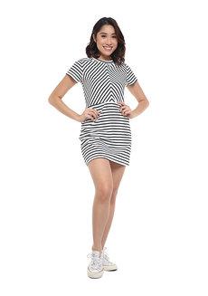 A Line Stripes Dress by Glamour Studio