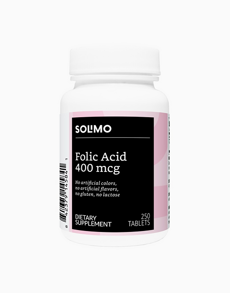 Folic Acid 400 mcg (250 Tablets - More Than 8 Month Supply) by Solimo