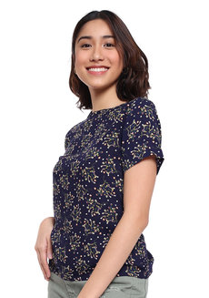 Micro Floral Printed Top by Glamour Studio