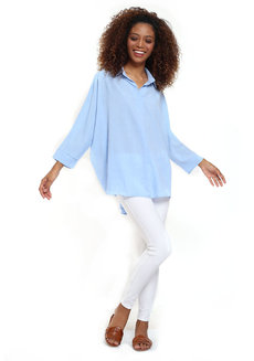 Oversized Blue Top by Pink Lemon Wear