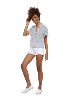 Striped Resort Shirt by Glamour Studio
