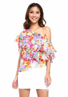 Laurana Layered One Shoulder Top by Chelsea