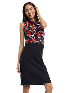Dorbeta Contrast Work Dress by Chelsea