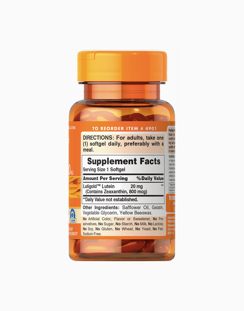 Lutein with zeaxanthin 20mg 60 softgels nutrifacts