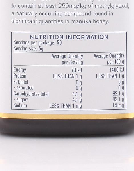 Manuka Honey MGO250+ (250g) by Manuka Health