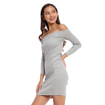 Jessy Offshoulder Ribbed Dress by ShopMishia