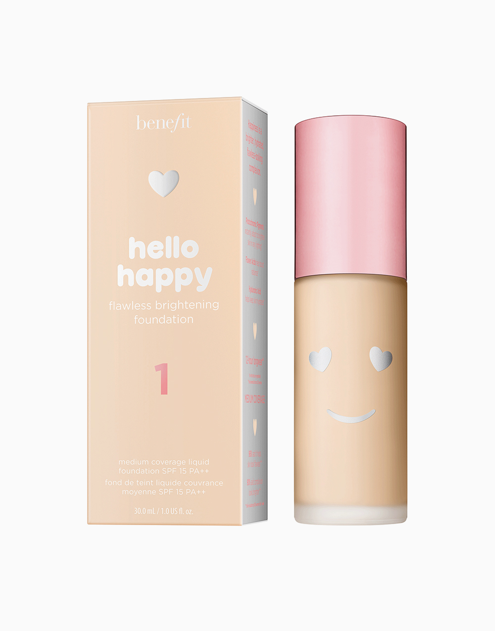 Hello Happy Flawless Liquid Foundation by Benefit | Shade 01