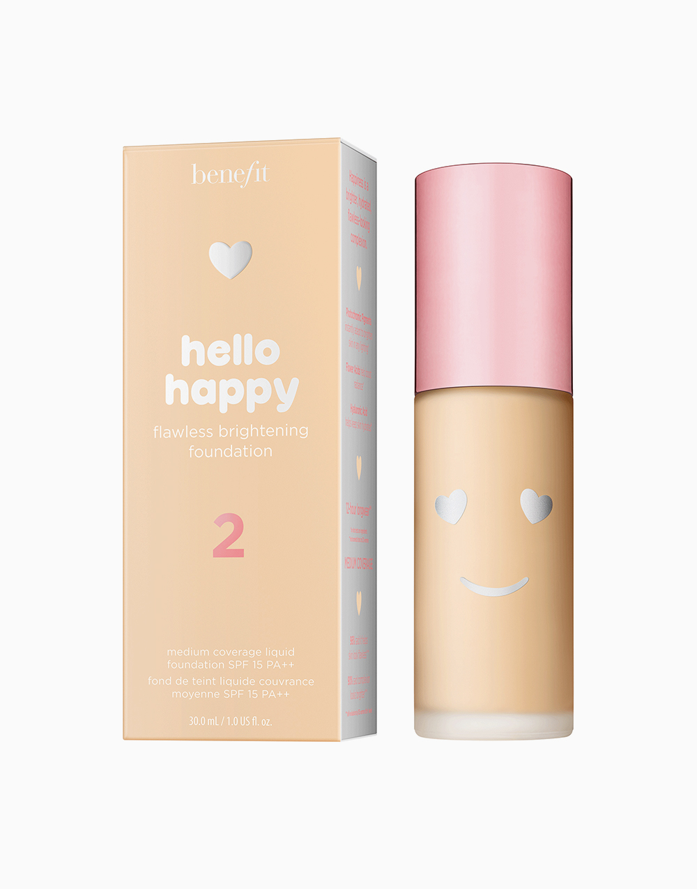 Hello Happy Flawless Liquid Foundation by Benefit | Shade 02
