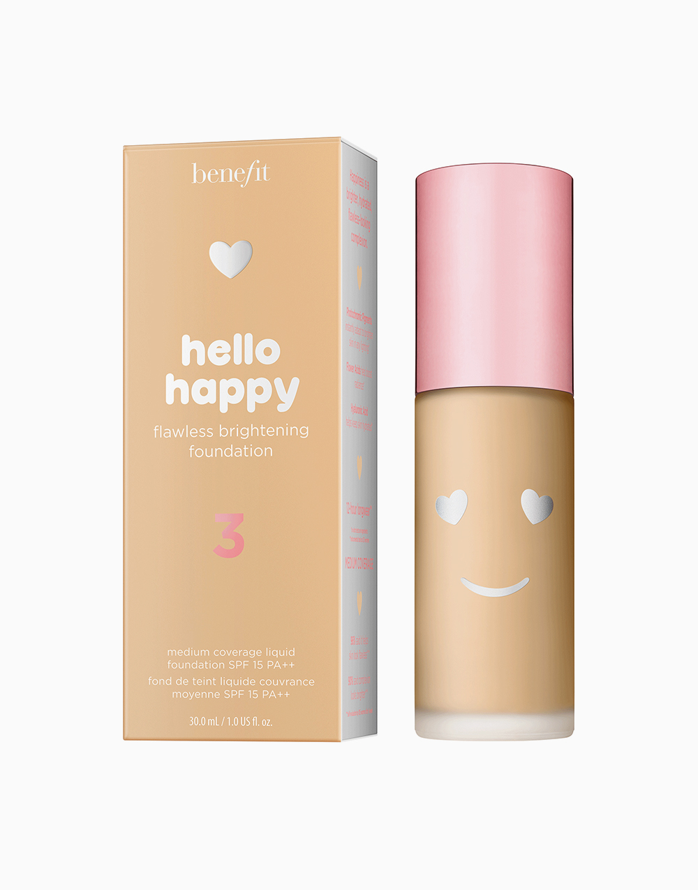 Hello Happy Flawless Liquid Foundation by Benefit | Shade 03