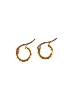 Camilla 1cm Hoop Earrings by Dusty Cloud