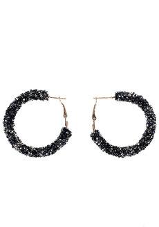 Paris Glitter Hoop Earrings by Loukha