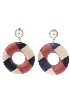 Mahogany Stud Earrings by Moxie PH
