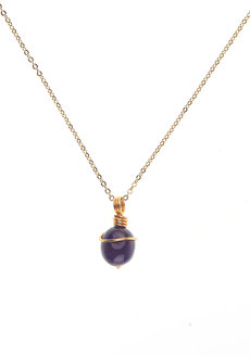 Amethyst Gemstone Necklace by Made By KCA
