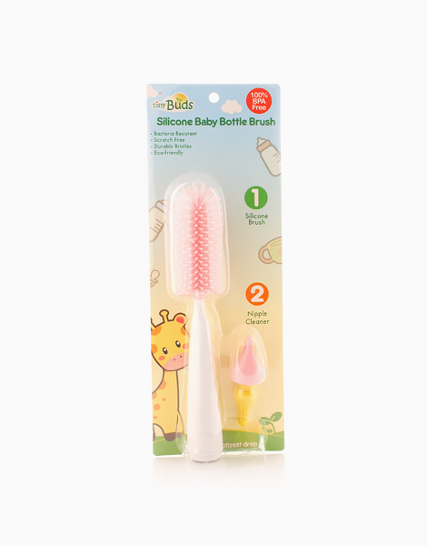 Non-Scratch Silicone Bottle Brush by Tiny Buds | Pink
