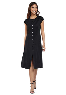Camilla Button Dress by Flair & Stare