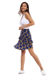 Pilar Ruffled Skirt by Chelsea
