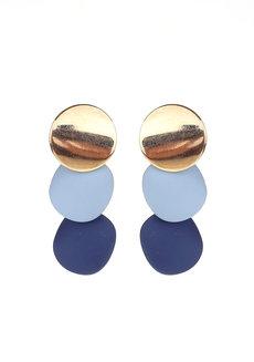 Cinerous Geometric Disc Earrings by Moxie PH