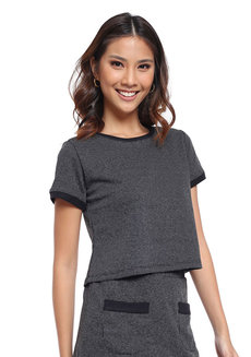 Textured Knit Short Sleeve Top by Glamour Studio