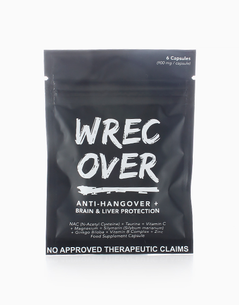 WrecOver Anti-Hangover + Brain and Liver Protection (6 Capsules) by WrecOver