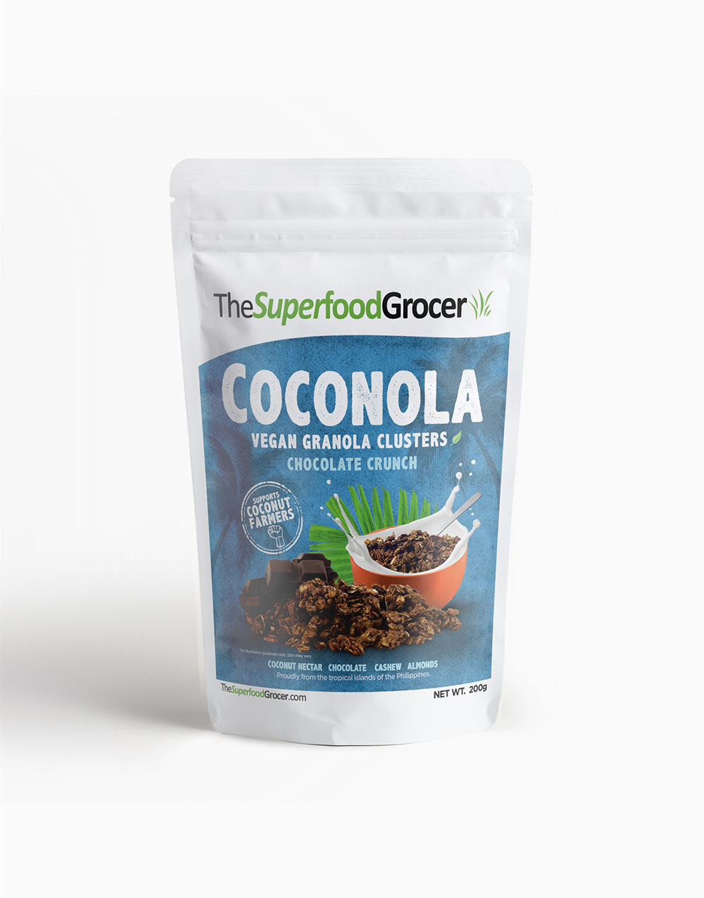 Coconola Vegan Granola Clusters Chocolate Crunch (200g) by The Superfood Grocer