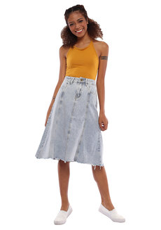 Anna Denim Skirt by Pink Lemon Wear