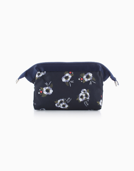 Makeup Pouch by Mermaid Dreams | Navy Blue Floral