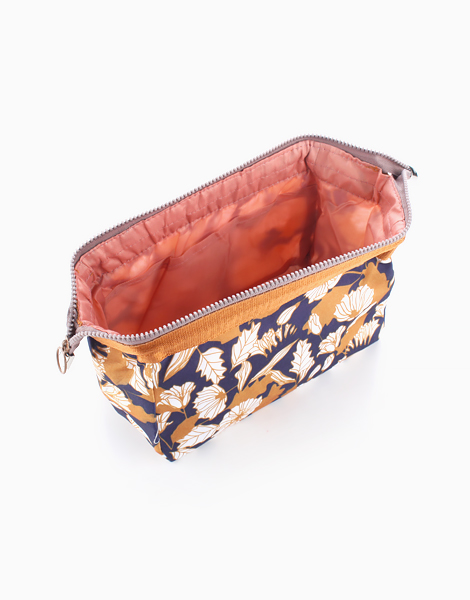 Makeup Pouch by Mermaid Dreams | Brown Floral
