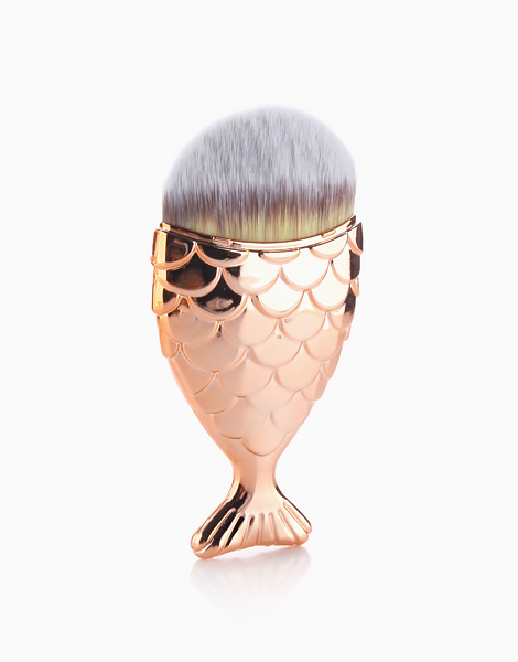 Multipurpose Mermaid Brush with Cover by Mermaid Dreams | Rose Gold
