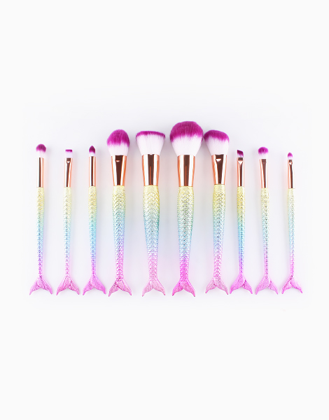 10-Piece Mermaid Brush Set by Mermaid Dreams | Rainbow