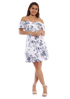 Moya Off Shoulder Dress by Chelsea