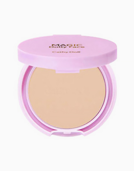 Magic Dolly Face 2 Way Cake Powder Mini (4.5g) by Cathy Doll   Natural Beige