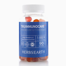 Vitamin D3 Gummies 2,000IU TruImmunoCare (All Natural, 90 Flavored Gummies for Adults, Teens and Kids) by Herbs of the Earth