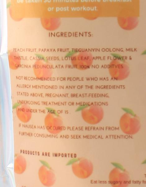Peach Slimming Detox Tea (150g) by Healthy Munch