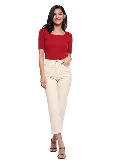 Elaine Cream Pants by Mantou Clothing