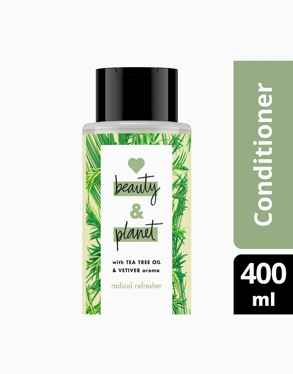 Love Beauty And Planet Tea Tree & Vetiver Conditioner Radical Refresher (400ml) by Love Beauty and Planet