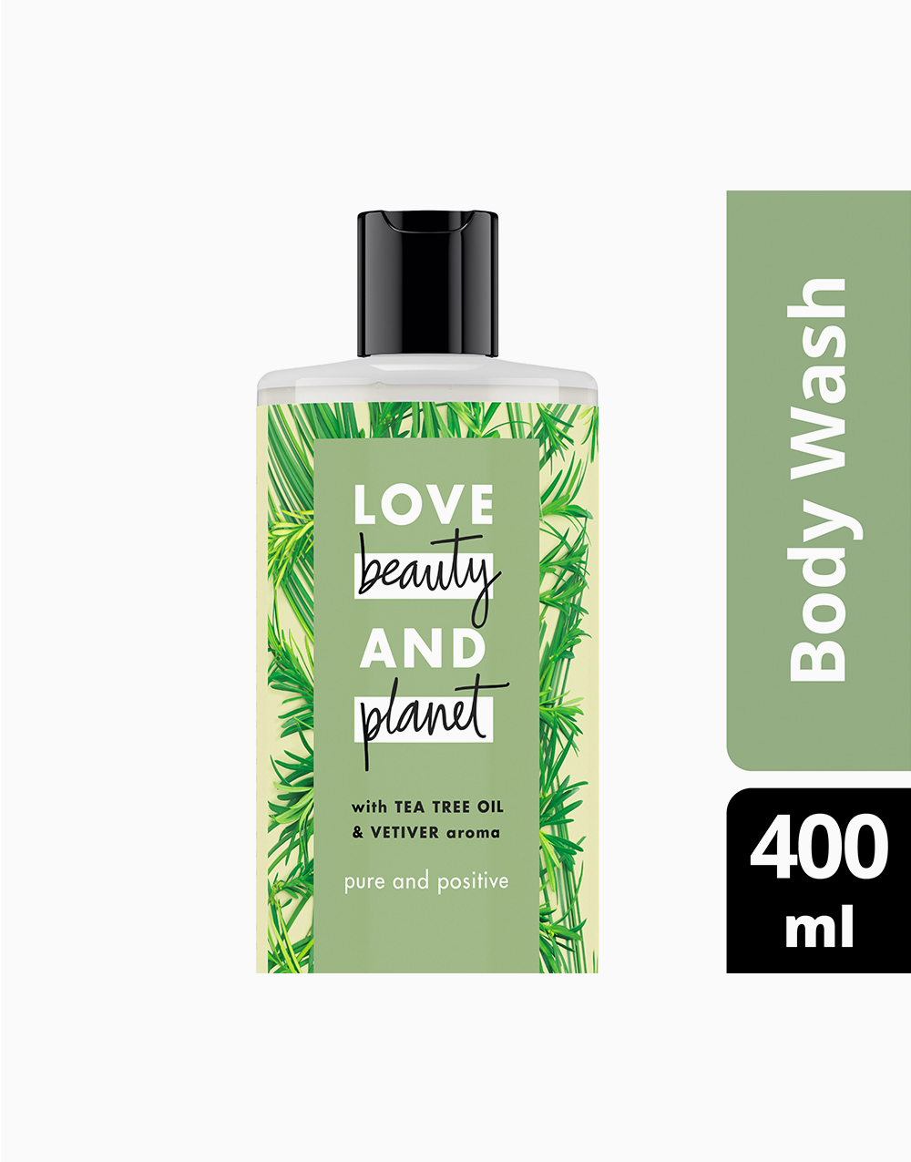 Love Beauty And Planet Tea Tree & Vetiver Body Wash Pure and Positive (400ml) by Love Beauty and Planet