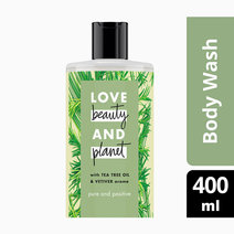 Love beauty and planet tea tree   vetiver body wash pure and positive 400ml