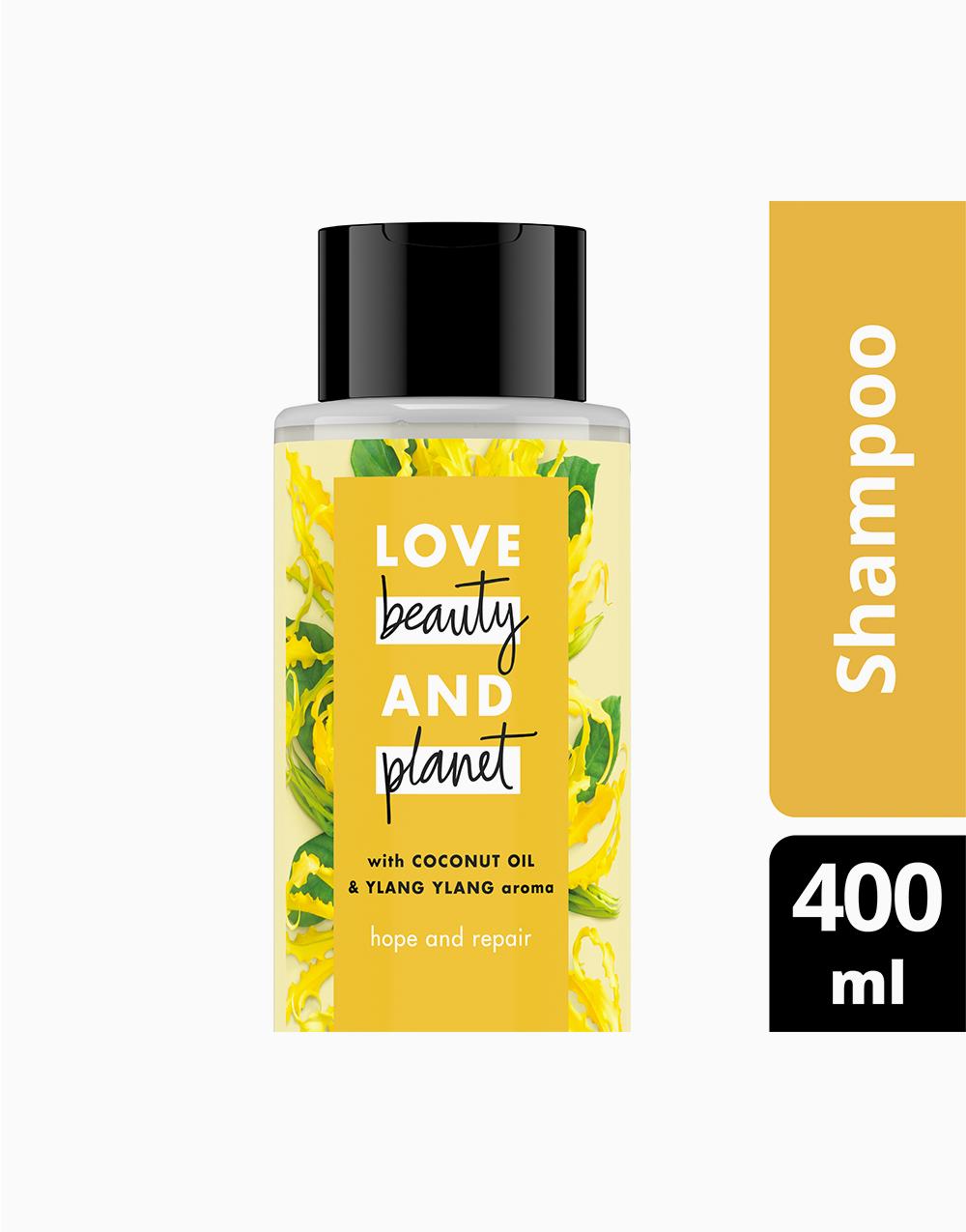 Coconut & Ylang Ylang Shampoo - Hope and Repair (400ml) by Love Beauty and Planet