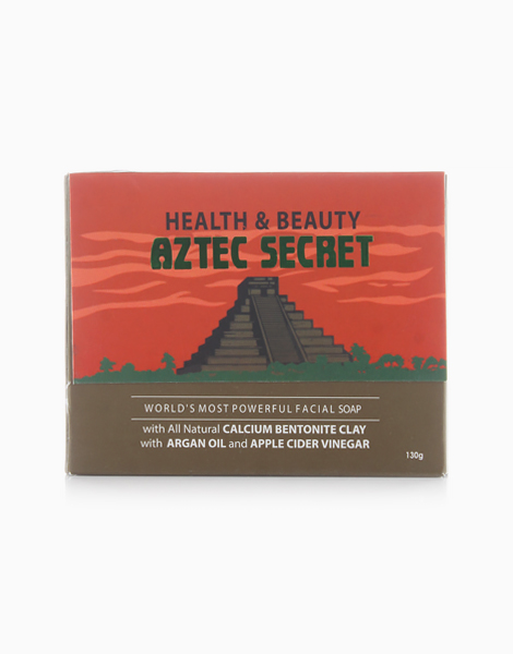 Facial and Body Soap with Bentonite, Apple Cider Vinegar, and Moroccon Argan Oil by Aztec Secret