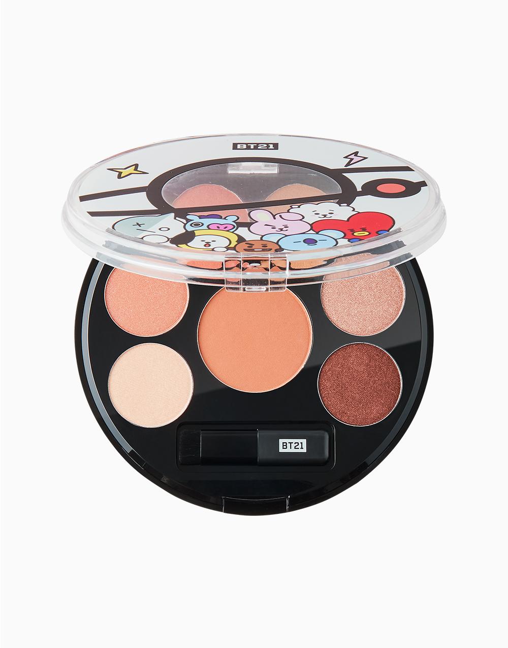 BT21 Eyeshadow Palette by VT Cosmetics   Mood Brown