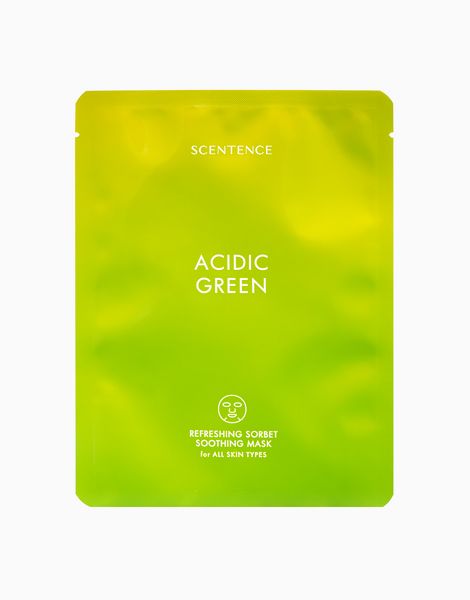 Acidic Green Refreshing Sorbet Soothing Face Mask by Scentence