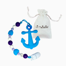 Li'l twinkies teether w clip on blue anchor